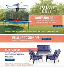 Sears Canada Patio Furniture Sears Canada Flash Sale Save Up To 30 Off Select Trampolines