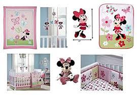 amazon com 14 pieces deluxe disney minnie mouse crib bedding set