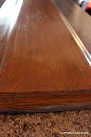 How To Lighten Stained Wood by Remodelaholic How To Achieve A Restoration Hardware Weathered