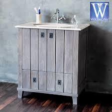 Teak Bathroom Vanity by Bathroom Furniture The Cabana Collection