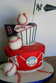 baseball birthday cake yankees vs red sox 10 year old boy