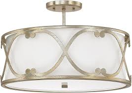 gold ceiling light fixtures capital lighting 4743wg 610 alexander winter gold semi flush flush