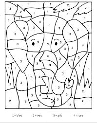 Magique elephant  Coloriage magique  Coloriages pour enfants