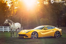 Ferrari F12 Orange - pic of the day yellow horse sssupersports com