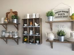 farmhouse kitchen shelves kitchen decor ideas pinterest