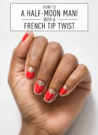 nail art how to half moon with a french tip twist nail art art