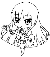 chibi coloring pages anime guitar coloringstar