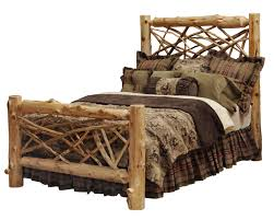 Cheap Log Bed Frames Cedar Twig Log Bed Or Headboard Only