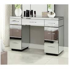 dressing table with mirror and drawers rio mirrored dressing table console 7 drawer mirror furniture