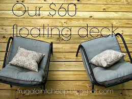frugal ain t cheap diy floating deck