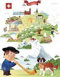 Swiss Map Cartoon Map Of Switzerland Stock Vector Art 505537873 Istock