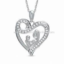 s day necklace wholesale pendant necklace in heart shape made of alloy suitable
