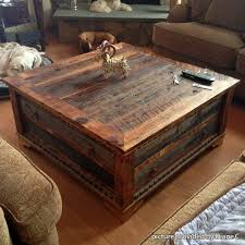 Rustic Square Coffee Table With Storage Country Roads Alder Wood Square Coffee Table Square Coffee