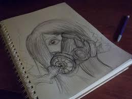 gas mask by justagreenpanda on deviantart