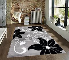 Black White Area Rug T1014 Gray Black White 5 2 X 7 2 Floral Area Rug Carpet