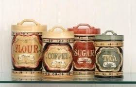 kitchen canisters flour sugar ceramic kitchen canisters sets foter