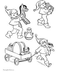 printable elf coloring pages christmas coloring pages of santa s elves