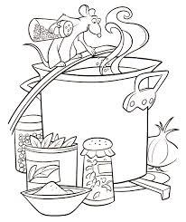 coloriage cuisine coloriage a imprimer ratatouille remy cuisine gratuit et colorier