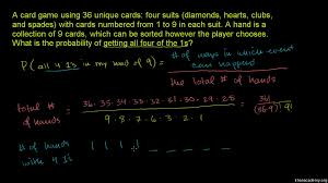 example combinatorics and probability video khan academy