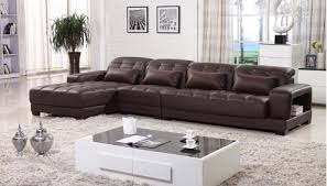 Brown Leather Sectional Sofa by Sectional Sofa With Chaise Leather Sectional L Shaped Sectional