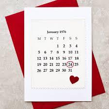 calendar 40th wedding anniversary card by arnott cards
