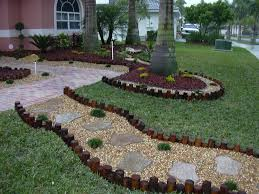 front yard desert landscaping landscaping yards stone borders