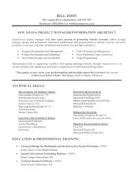 technical skills resume it project manager resume exle technical skills experienced it