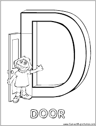 sesame street letter d coloring pages sketch coloring page
