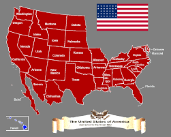 Map Of The States In United States by Other Times Map Of The United States Of America Circa 1910