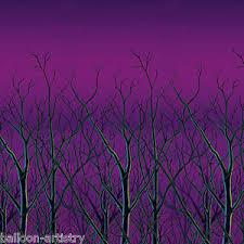 spooky halloween scene setter room roll tree tops sky wall