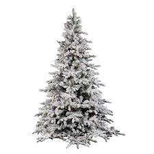 aspen spruce artificial flocked tree