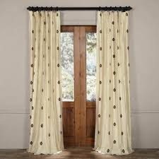 Mirror Curtain Silk Embroidered Curtains And Drapes Half Price Drapes