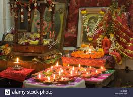 Home Temple Decoration by Home Temple God Krishna Diyas Stock Photos U0026 Home Temple God