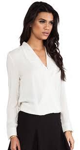 white wrap blouse ivory wrap blouse reina valentina