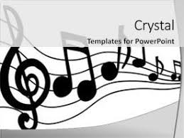 powerpoint template music themed background with cool music