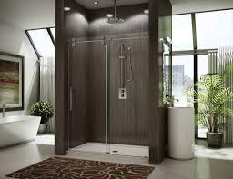 modern shower design bathrooms design gorgeous apartment bathroom with framelesss