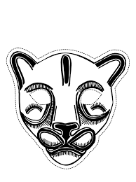 free printable mask coloring pages for kids