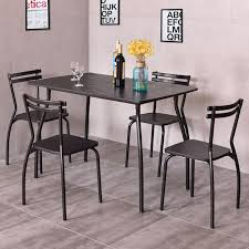 breakfast table with 4 chairs giantex 5 piece dining set table and 4 chairs modern home kitchen