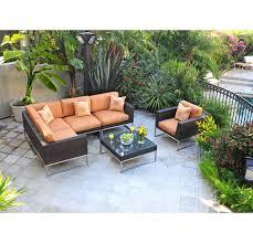 patio sectional sofa caluco mirabella wicker patio sectional