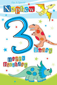 for a special nephew 3 today 3rd dinosaur design modern happy