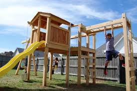 Backyard Play Structure by Natural State Treehouses Transforms A Backyard