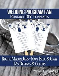 wedding program fans wording diy printable wedding program fan template shown here in the grace