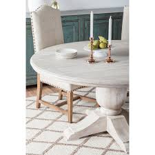 60 inch kitchen table valencia wood antique white 60 inch dining table by kosas home