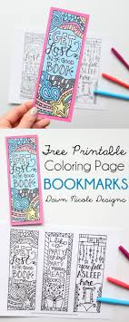 printable bookmarks for readers free printable coloring page bookmarks dawn nicole designs