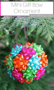 mini gift bow ornament all things g d
