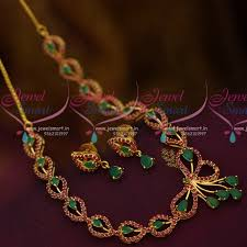 emerald stone necklace jewelry images Nl10613 semi precious short necklace ruby emerald stones rich look JPG