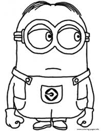 dave minion despicable s17c96 coloring pages printable