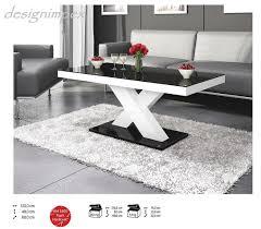 Wohnzimmertisch Cappuccino Design Couchtisch H 888 Schwarz Weiß Hochglanz Highgloss Tisch