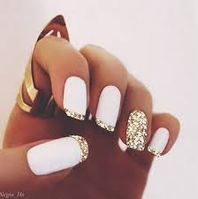 35 elegant and amazing white and gold nail art designs gold