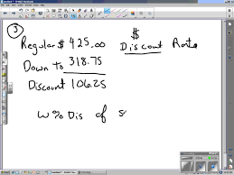 mark up and discount worksheet problem 3 youtube